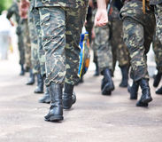 陆军强制乌克兰 图库摄影
