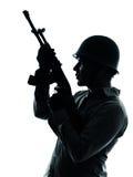 陆军战士人纵向 免版税库存图片