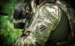 陆军战士我们 库存图片