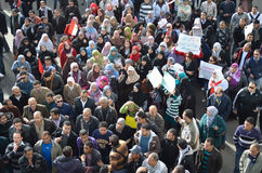 陆军抗议残酷的埃及人妇女 库存图片