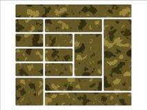 陆军按钮伪装沙漠定位网站 免版税库存照片