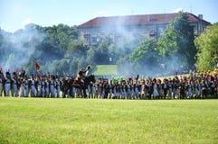 陆军攻击拿破仑 库存照片