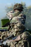 陆军法语战士 免版税库存图片