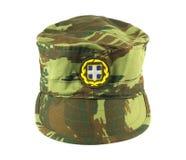 陆军盖帽希腊 库存图片
