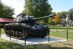 陆军背景查出的坦克白色 图库摄影