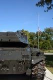 陆军背景查出的坦克白色 免版税图库摄影