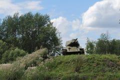 陆军背景查出的坦克白色 库存图片