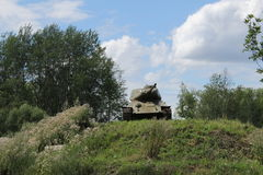 陆军背景查出的坦克白色 库存照片