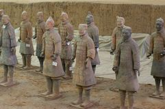 陆军赤土陶器 免版税库存照片
