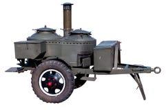 陆军野外用的全套炊具老俄国苏联时&# 库存照片