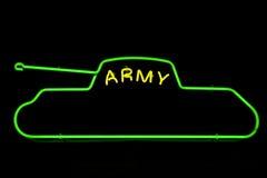 陆军霓虹灯广告 库存图片
