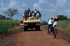 陆地运输在乌干达。 免版税图库摄影