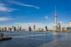 陆家嘴区在上海,中国 免版税库存照片