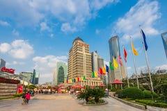 陆家嘴财务和贸易区,浦东, Shangha 免版税图库摄影