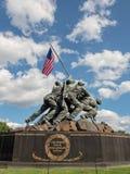 陆战队战争纪念建筑在阿灵顿, VA 免版税库存照片