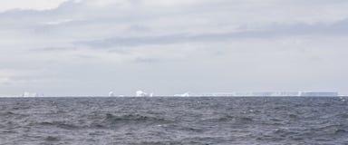 陆架冰的领域在南极洲 免版税库存照片