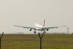343登陆的空中客车A330 图库摄影