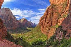 登陆足迹,锡安国家公园,犹他的天使 免版税图库摄影