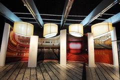 陈列全部大厅国家戏院 图库摄影