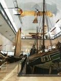 陈列在Deutches博物馆,慕尼黑,德语 免版税图库摄影