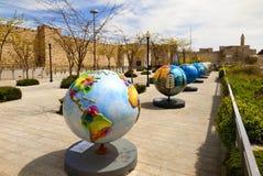 陈列地球在耶路撒冷 免版税库存图片