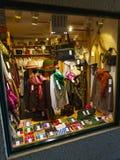 陈列室与高山衣物的礼品店 库存图片