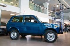 陈列室和汽车经销权工厂Avtovaz Gusar Lada  免版税库存照片
