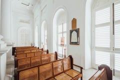 陈列室圣经在圣乔治` s教会是19世纪英国国教的教堂在市乔治市在槟榔岛,马来西亚 免版税库存图片
