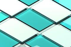 陈列室 对介绍app网络设计的模板 图库摄影