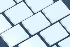 陈列室 对介绍app网络设计的模板 免版税库存照片