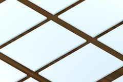 陈列室 对介绍app网络设计的模板 库存图片