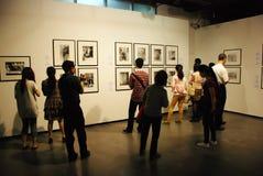陈列帕布鲁棕色画家西班牙语绘画的12点活字 免版税库存图片