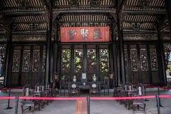 陈家祠,一个著名旅游胜地在广东,中国,是第二个大厅建筑结构  图库摄影