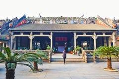 陈氏族寺庙内殿  库存照片