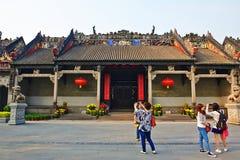 陈氏族寺庙和访客 免版税库存图片