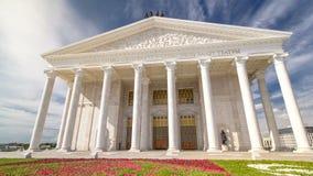 陈述歌剧和芭蕾舞团阿斯塔纳歌剧timelapse hyperlapse 阿斯塔纳卡扎克斯坦 股票录像