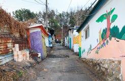 陋屋地区在汉城,韩国 库存图片