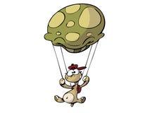 降伞乌龟 向量例证