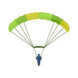 降伞传染媒介例证飞行 免版税库存照片