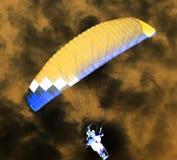 降伞天空 反向 库存图片