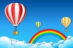 降伞彩虹 向量例证