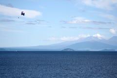 降伞,新西兰 图库摄影