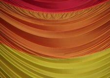 降伞织品的段在美好的颜色的 免版税库存图片