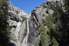 降低优胜美地瀑布风景优胜美地国家公园 库存图片