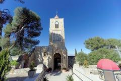 降低内盖夫加利利,以色列 - 2月18日 2017年 阁下的变貌的正统修道院登上的塔博尔 库存照片