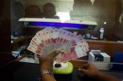 降低卢比货币价值 库存图片
