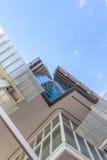 降低在摩天大楼的看法 免版税库存照片