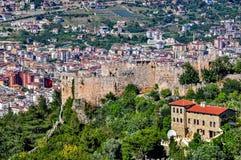 降低城堡- Ehmedek和阿拉尼亚市 库存照片