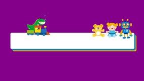 降低孩子和小孩的第三副横幅阿尔法通道的 库存例证