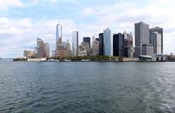 降低曼哈顿。著名纽约地标 图库摄影